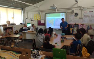 Productors de cafè de Comerç Just visiten les escoles del ZER Baix Montseny